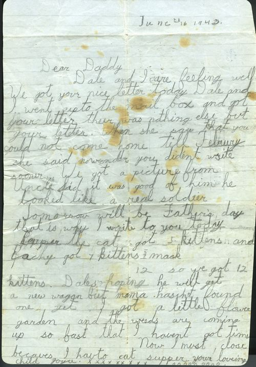 War letter from Joyce
