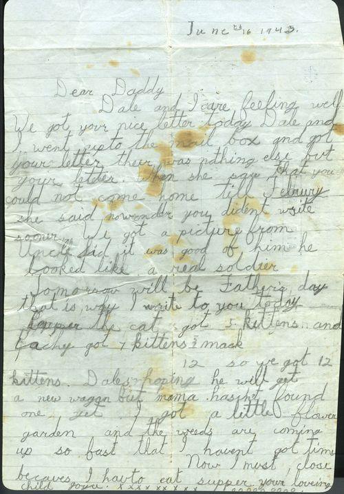 War letter from Joyce