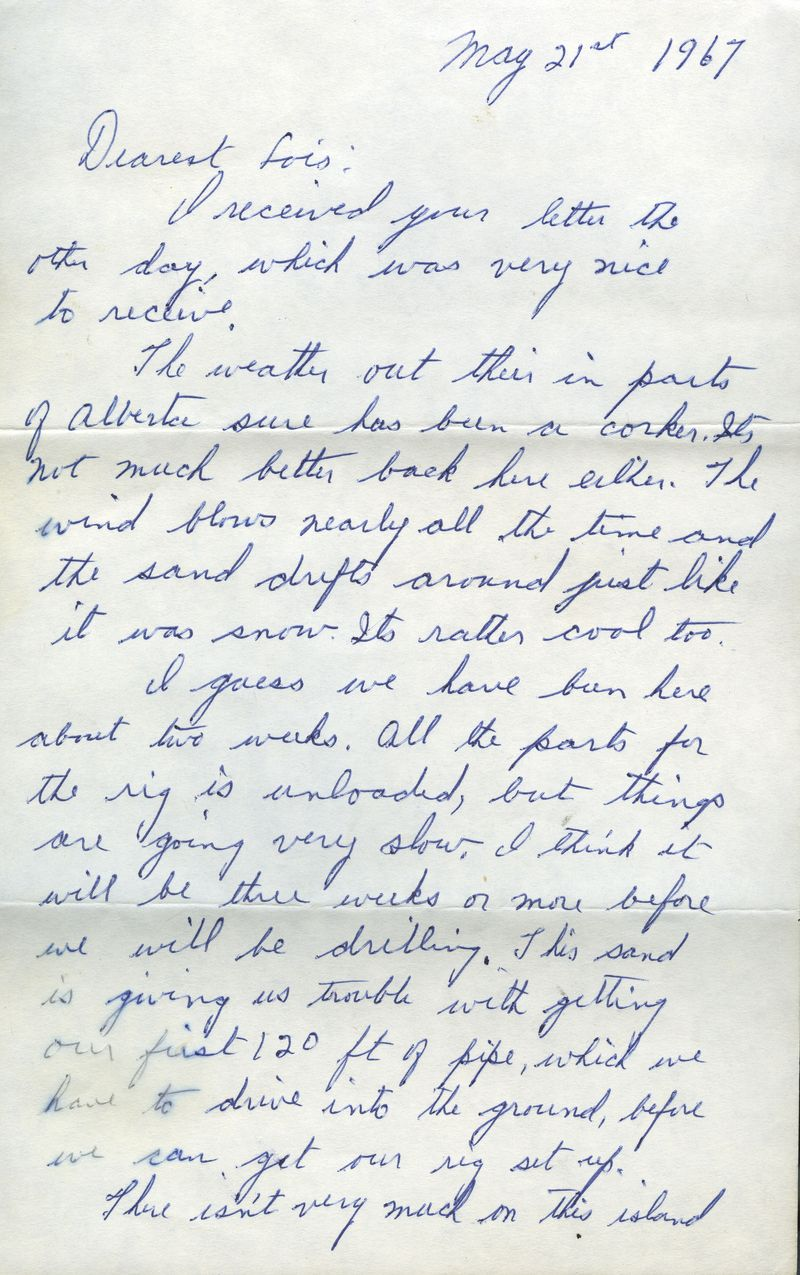 Spitzbergen letter from Dad to Mom pg 1 1967