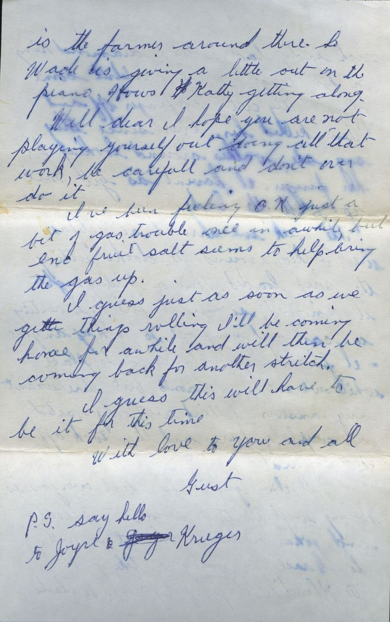 Spitzbergen letter from Dad to Mom pg 4 1967